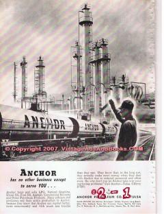 Anchor Petroleum Company 1955 Vintage Ad Serve You Gas Oil Diesel Fuel