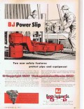 Byron Jackson Company 1955 Vintage Ad Oil Field Drilling BJ Power Slip