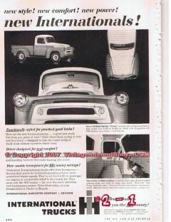 international trucks 1955 ih harvester pickup truck vintage ad
