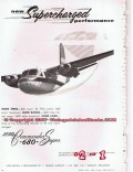 aero design engineering company 1955 commander 680 airplane vintage ad