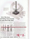 International Nickel Company 1955 Vintage Ad Oil Baash-Ross Tools