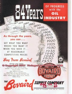 Bovaird Supply Company 1955 Vintage Ad Oil Industry 84 Years Progress