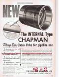 Chapman Valve Mfg Company 1955 Vintage Ad Oil Pipeline Disc Check
