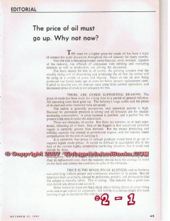 price of oil must go up 1955 oil gas petroleum vintage article