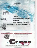M J Crose Mfg Company 1955 Vintage Ad Oil Pipeline Equipment Finest