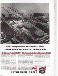 Bethlehem Steel Company 1955 Vintage Ad Allied Oil Major Petroleum