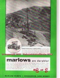 Marlow Pumps 1955 Vintage Ad Oil Field Rugged Equipment Country Durable
