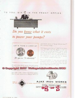 Ajax Iron Works 1955 Vintage Ad Oil Gas Engine Power Pumps Drilling
