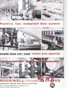 Rockwell Mfg Company 1955 Vintage Ad Oil Valves Positive Leakproof