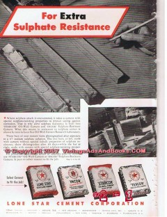 Lone Star Cement Corp 1955 Vintage Ad Oil Field Sulphate Resistance
