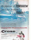 M J Crose Mfg Company 1955 Vintage Ad Oil Field Pipeline Tomorrow