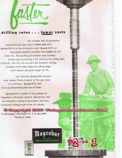 Magnet Cove Barium Corp 1955 Vintage Ad Oil Well Faster Drilling Mud