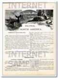 canada and newfoundland 1886 old original antique color vintage map