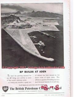 British Petroleum Company 1955 Vintage Ad Oil Gas BP Builds Aden
