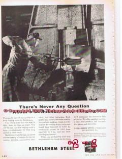 Bethlehem Steel Company 1955 Vintage Ad Oil Field Tools Drop Forging