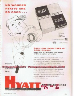 Hyatt Roller Bearing Company 1955 Vintage Ad Oil Field Petroleum Good
