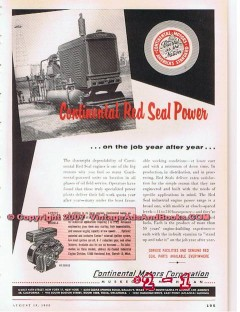 Continental Motors Corp 1955 Vintage Ad Oil Field Drilling Engine Year