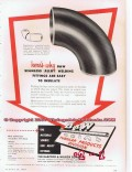 Babcock Wilcox Company 1955 Vintage Ad Oil Seamless Welding Fittings