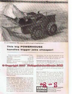 Clark Equipment Company 1955 Vintage Ad Tractor Oilfield Michigan 175A