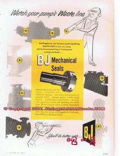 Byron Jackson Company 1955 Vintage Ad Oil Pump BJ Mecanical Seals