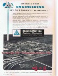Brown Root Inc 1955 Vintage Ad Oil Gas Engineers Constructors