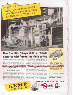 C M Kemp Mfg Company 1955 Vintage Ad Sun Oil Sunoco Refinery Magic