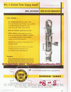 Anderson-Dunham Tanks 1955 Vintage Ad Oil Field Storage Equipment