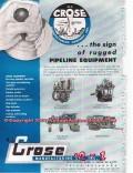 M J Crose Mfg Company 1955 Vintage Ad Oil Pipeline Equipment Rugged