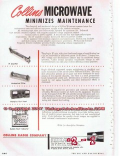 collins radio company 1955 microwave systems tube type vintage ad