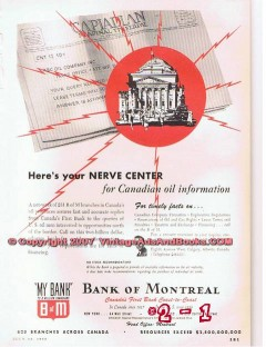 bank of montreal 1955 oil gas petroleum b of m canada vintage ad