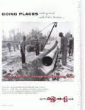 Cities Service 1955 Vintage Ad Oil Gas Petroleum Underground Pipeline