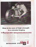 Bethlehem Steel Company 1955 Vintage Ad High Strength Circular Forging