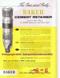 Baker Oil Tools Inc 1955 Vintage Ad Cement Retainer Well Cementing