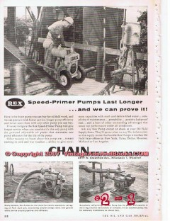 Chain Belt Company 1955 Vintage Ad Oil Field Rex Speed-Primer Pumps