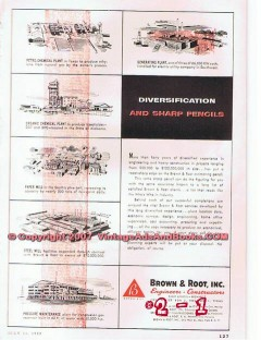 Brown Root Inc 1955 Vintage Ad Oil Diversification Sharp Pencils