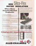 Allis-Chalmers 1955 Vintage Ad Amazing Silco-Flex Motor Insulation