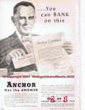 Anchor Petroleum Company 1955 Vintage Ad Oil Gas Products Bank On This