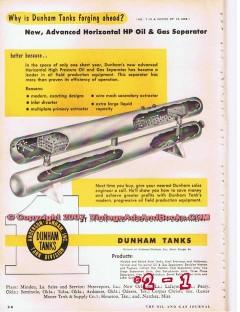 Anderson-Dunham Inc 1955 Vintage Ad Oil Gas Separator Horizontal HP