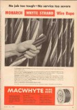 MacWhyte Wire Rope Company 1955 Vintage Ad Oil Wire Rope Tough Service