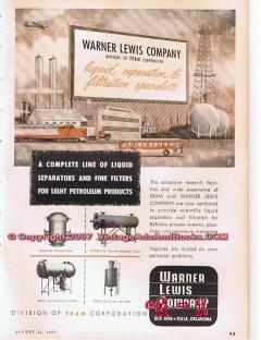 S C Carter Company 1955 Vintage Ad Oil Field Pump Stripper Wells