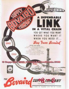 Bovaird Supply Company 1955 Vintage Ad Oil Equipment Dependable Link