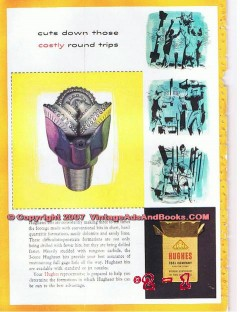 Hughes Tool Company 1955 Vintage Ad Oil Field Hughest Bits Costly