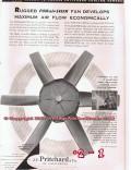 J F Pritchard Company 1955 Vintage Ad Oil Gas Refinery PowairSaver Fan