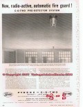 Pyrene C-O-Two 1955 Vintage Ad Oil Gas Industry Radioactive Fire Guard