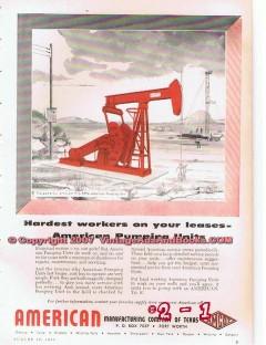 American Mfg Company TX 1955 Vintage Ad Oil Petroleum Pumping Units