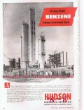 Hudson Engineering Corp 1955 Vintage Ad Gas Benzene Recovery Plant