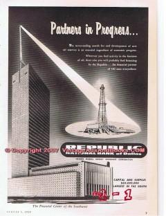 republic national bank dallas 1955 partners in progress vintage ad