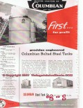 Columbian Steel Tank Company 1955 Vintage Ad Oil Precision Engineered