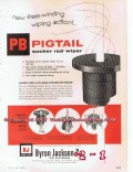 Byron Jackson Company 1955 Vintage Ad Oil Pigtail Sucker Rod Wiper PB