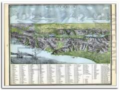 birds eye view holy land 1886 vintage map